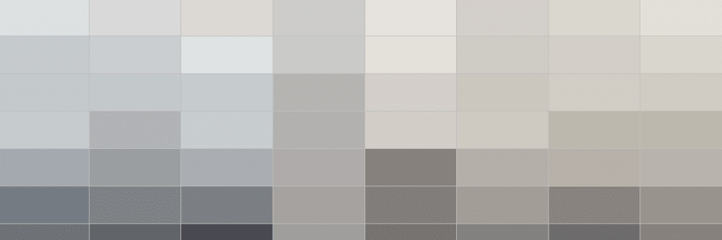 Color Family of gray paint