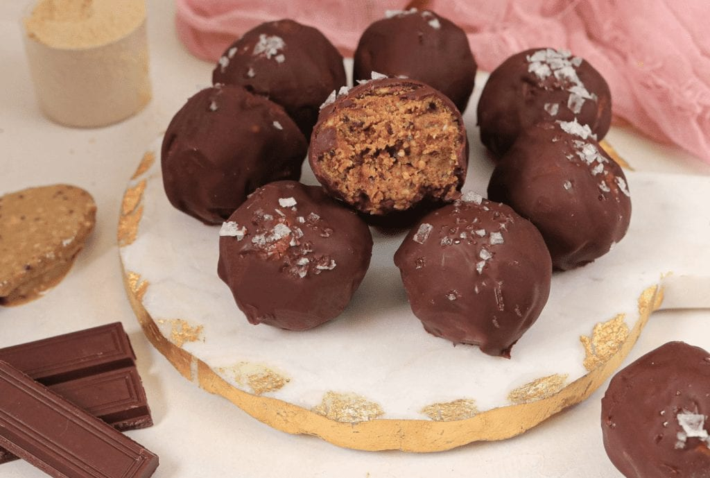 Chocolate Truffles with protein
