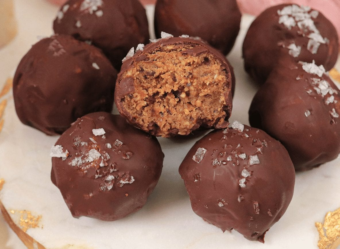Chocolate Dipped Protein Truffles with Sea Salt Recipe