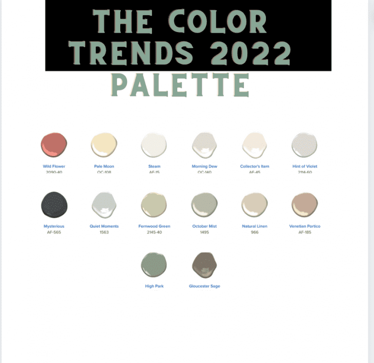 Paint Palette of the year